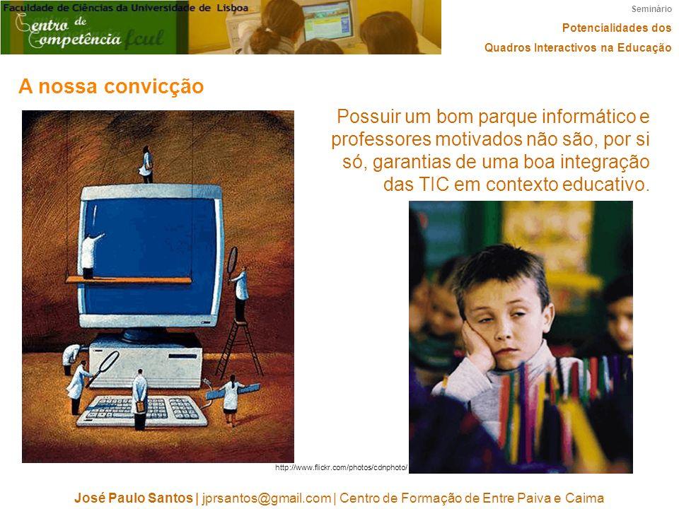 Seminário Potencialidades dos Quadros Interactivos na Educação José Paulo Santos   jprsantos@gmail.com   Centro de Formação de Entre Paiva e Caima A n
