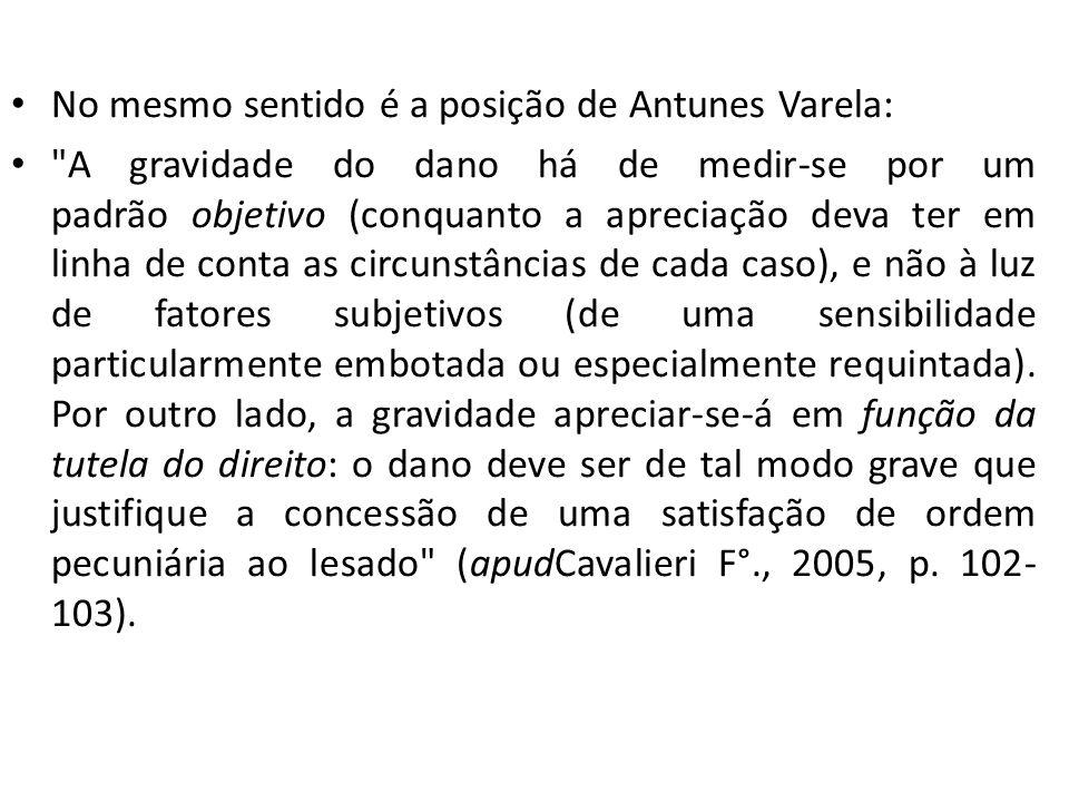 No mesmo sentido é a posição de Antunes Varela: