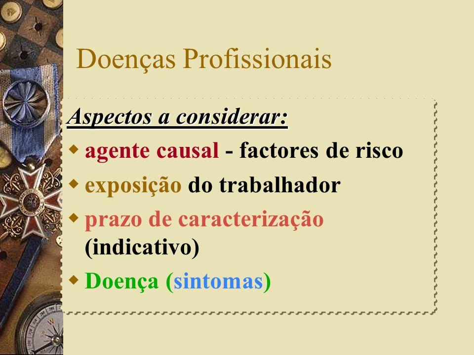 D. Profissionais – L artº 27º Presumem-se ser doenças profissionais aquelas que se verificarem durante o desempenho das tarefas, embora a exposição nã