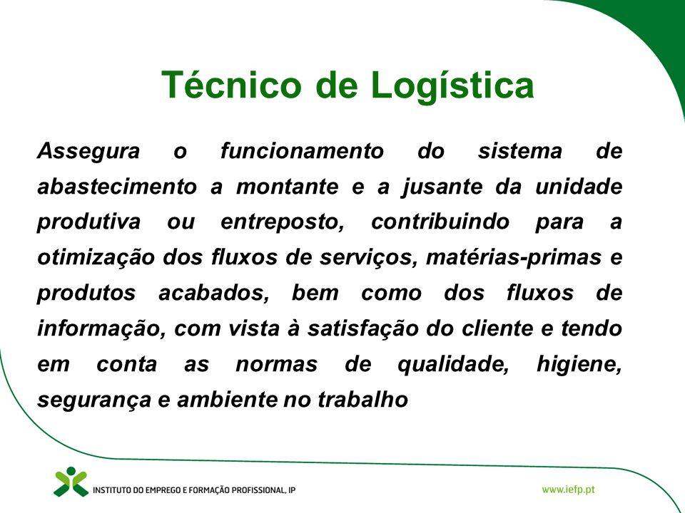 Técnico de Logística Assegura o funcionamento do sistema de abastecimento a montante e a jusante da unidade produtiva ou entreposto, contribuindo para