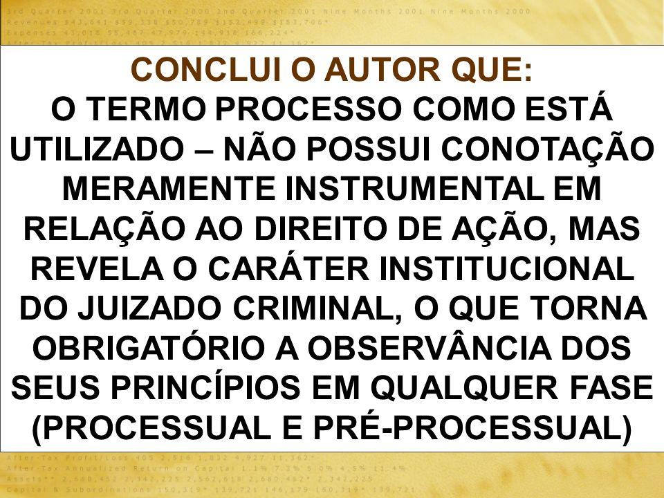 DO ARQUIVAMENTO DO TERMO CIRCUNSTANCIADO POSSÍVEL.