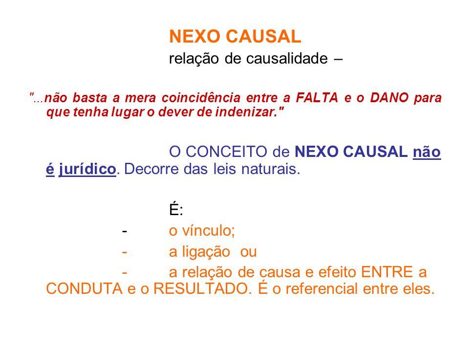 NEXO CAUSAL relação de causalidade –