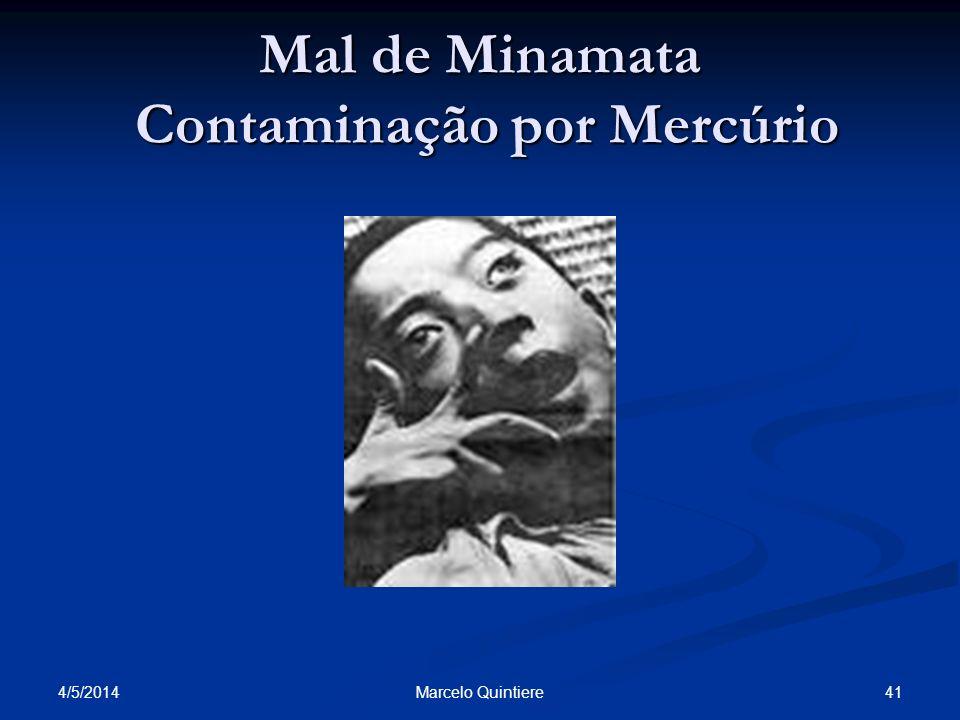 Mal de Minamata Contaminação por Mercúrio 4/5/2014 41Marcelo Quintiere