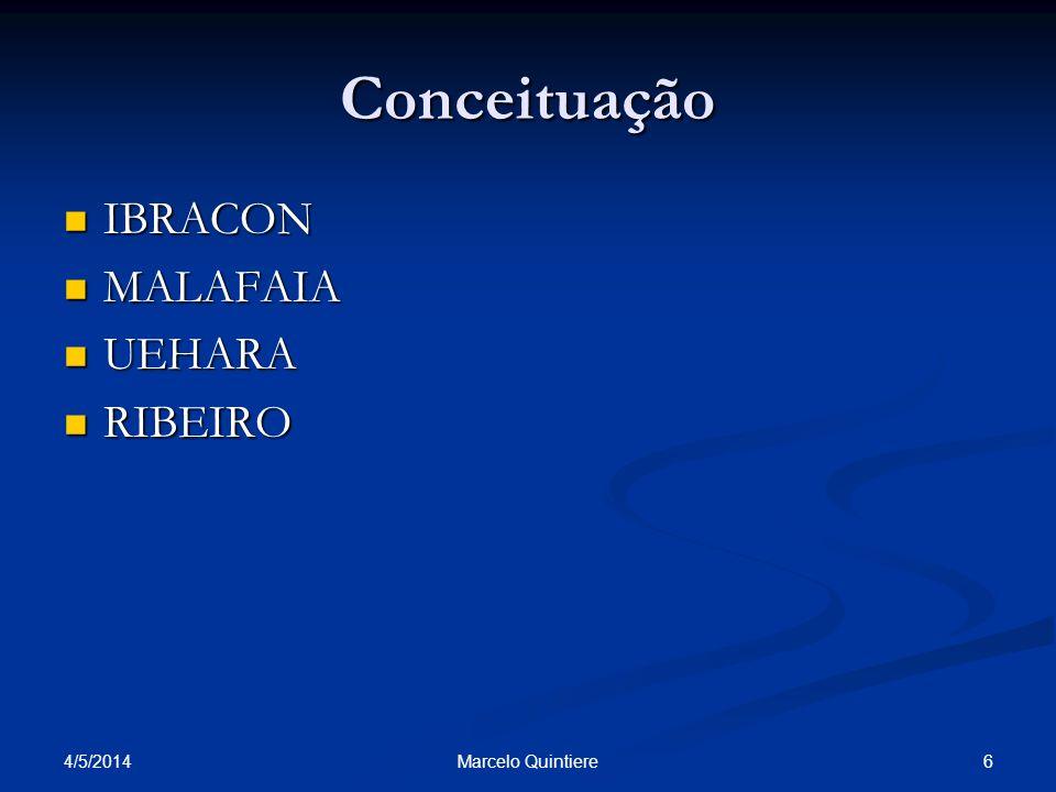Conceituação IBRACON IBRACON MALAFAIA MALAFAIA UEHARA UEHARA RIBEIRO RIBEIRO 4/5/2014 6Marcelo Quintiere
