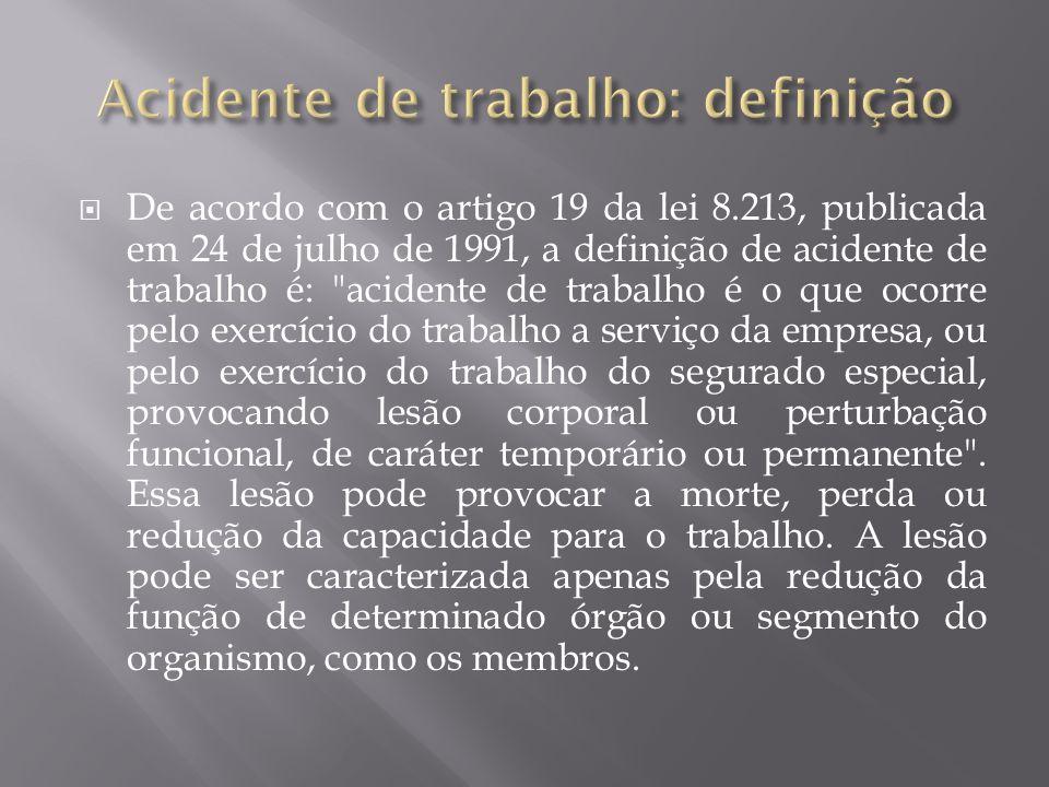 De acordo com o artigo 19 da lei 8.213, publicada em 24 de julho de 1991, a definição de acidente de trabalho é: