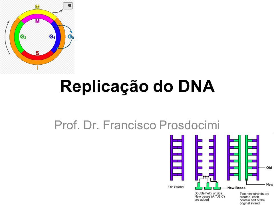 Replicação do DNA Prof. Dr. Francisco Prosdocimi
