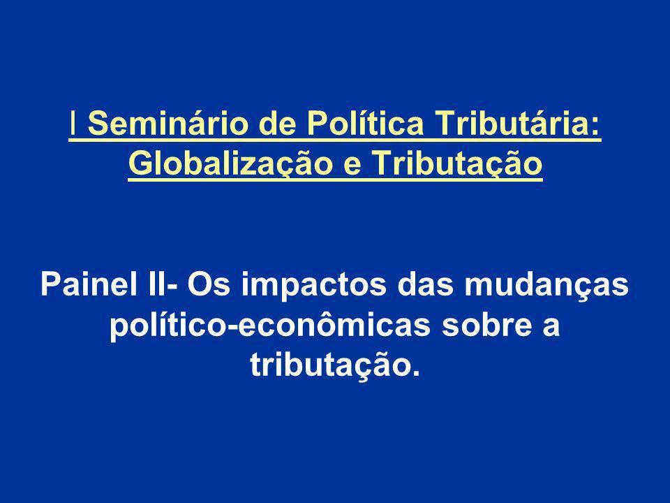 PROCURA DA COMPETITIVIDADE INTERNACIONAL ATRAVÉS DA TRIBUTAÇÃO PRÁTICAS TRIBUTÁRIAS NOCIVAS