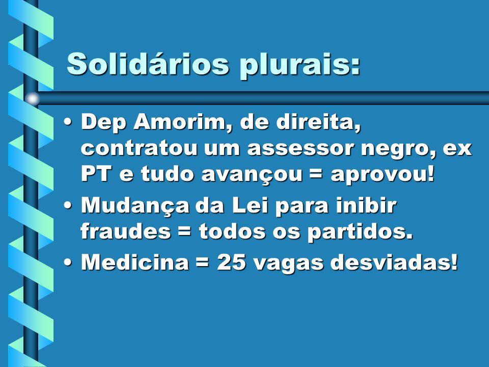 Solidários plurais: Dep Amorim, de direita, contratou um assessor negro, ex PT e tudo avançou = aprovou!Dep Amorim, de direita, contratou um assessor