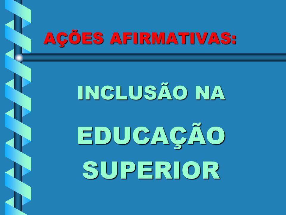 AÇÕES AFIRMATIVAS: INCLUSÃO NA EDUCAÇÃOSUPERIOR