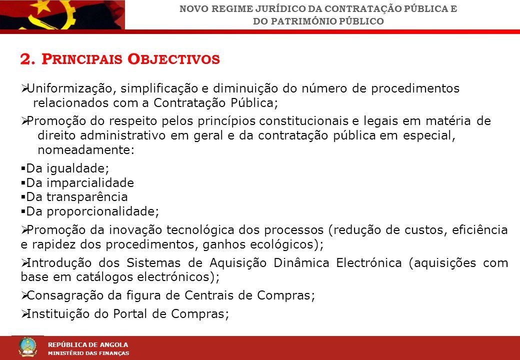 LEI DA CONTRAÇÃO PÚBLICA (LCP) REPÚBLICA DE ANGOLA MINISTÉRIO DAS FINANÇAS 2.