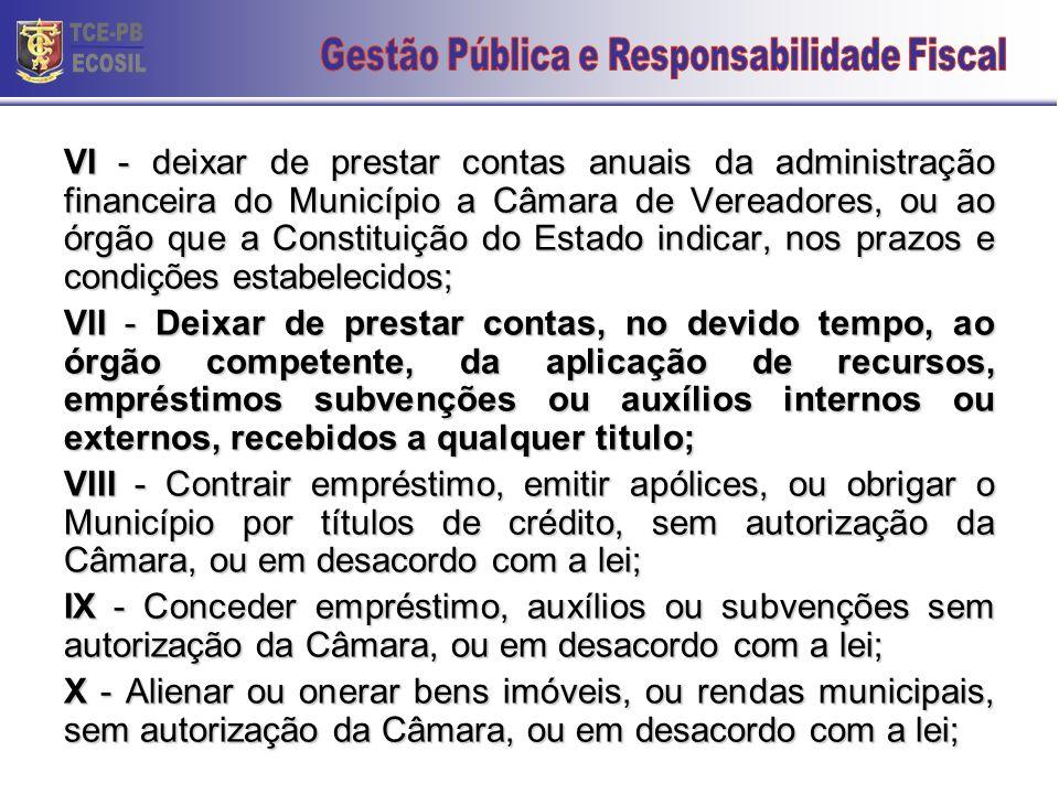 Decreto-lei 201/67 Art. 1º São crimes de responsabilidade dos Prefeitos Municipal, sujeitos ao julgamento do Poder Judiciário, independentemente do pr