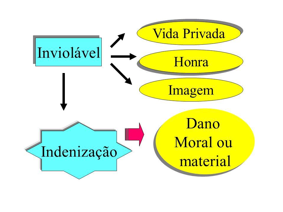 Inviolável Vida Privada Honra Imagem Indenização Dano Moral ou material Dano Moral ou material
