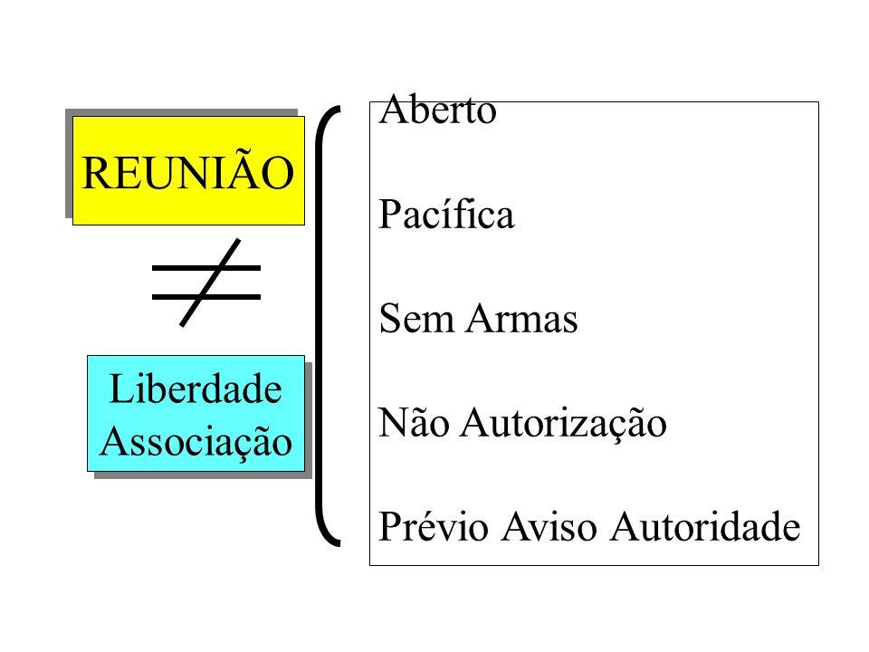 REUNIÃO Liberdade Associação Liberdade Associação Aberto Pacífica Sem Armas Não Autorização Prévio Aviso Autoridade