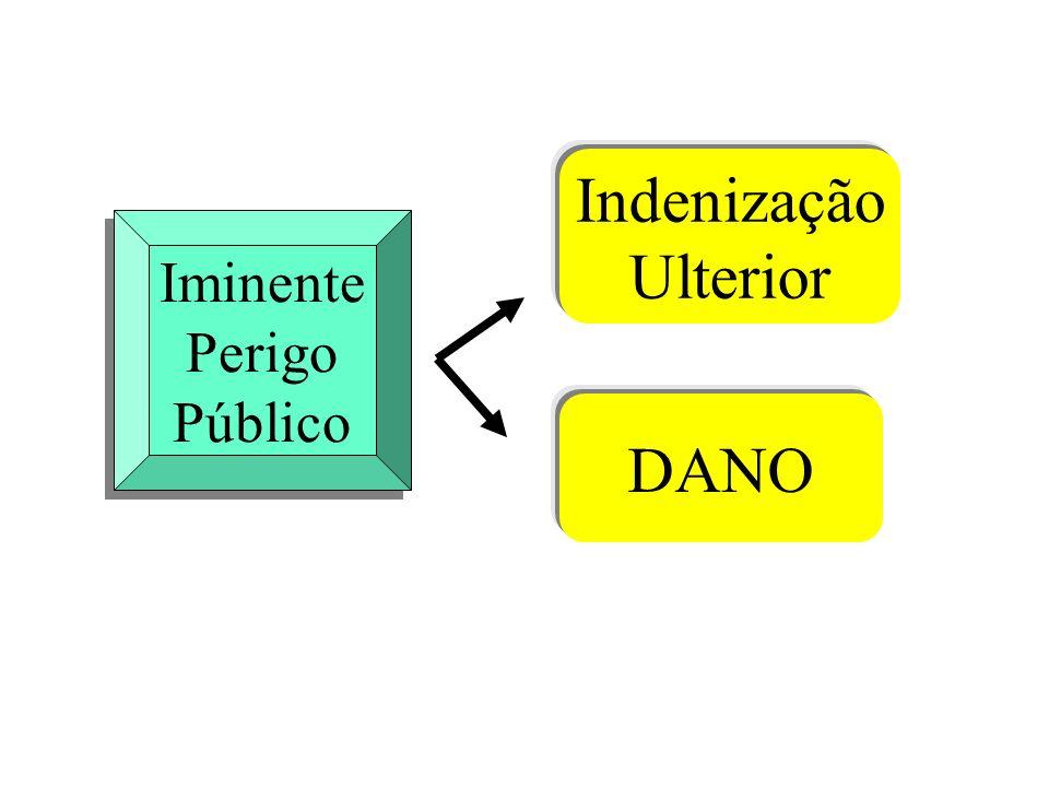 Iminente Perigo Público Iminente Perigo Público Indenização Ulterior DANO