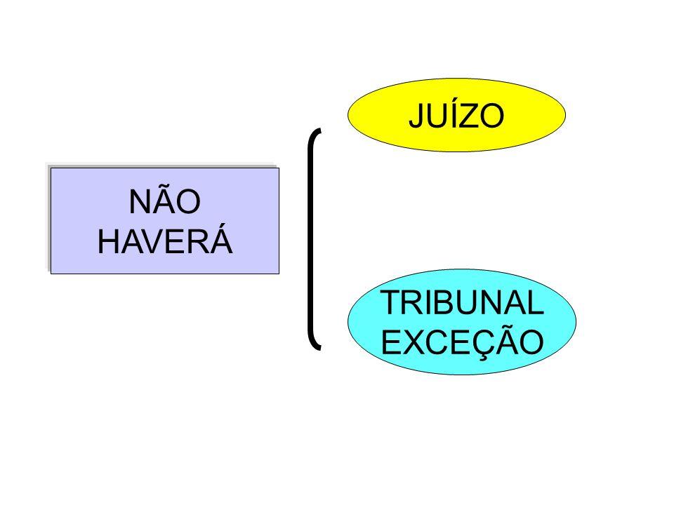 NÃO HAVERÁ JUÍZO TRIBUNAL EXCEÇÃO