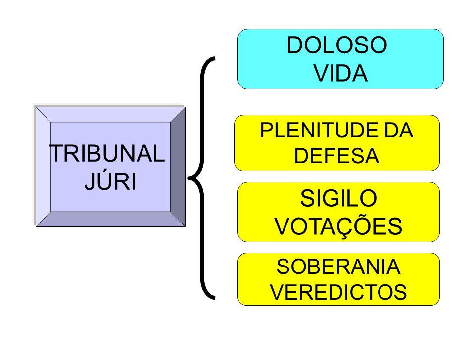 TRIBUNAL JÚRI DOLOSO VIDA PLENITUDE DA DEFESA SIGILO VOTAÇÕES SOBERANIA VEREDICTOS
