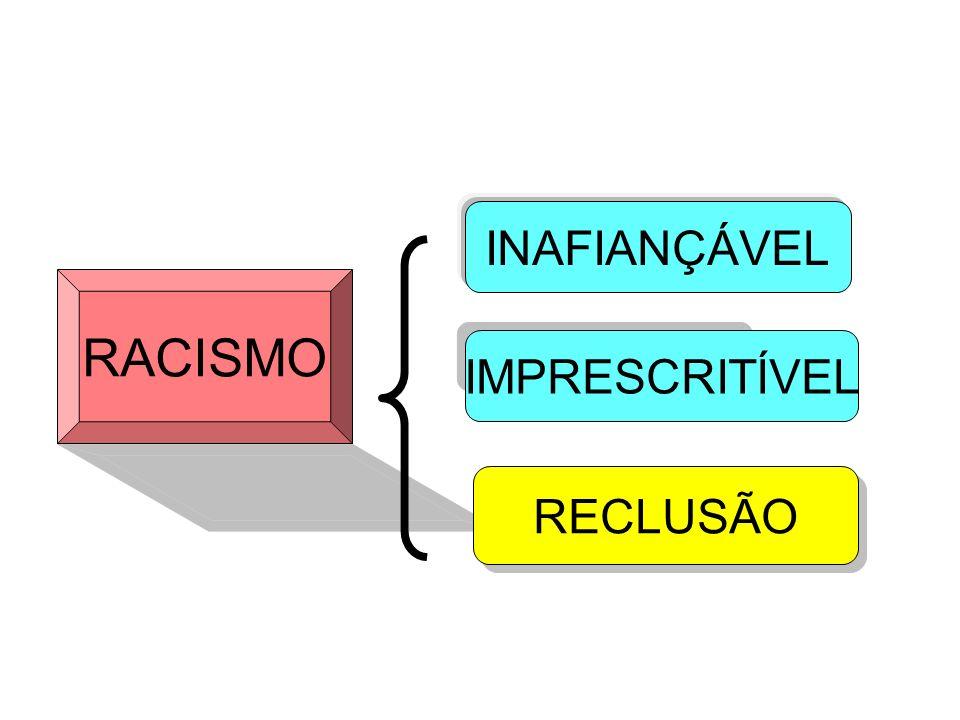 RACISMO INAFIANÇÁVEL IMPRESCRITÍVEL RECLUSÃO