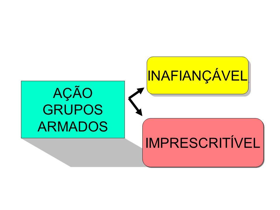AÇÃO GRUPOS ARMADOS INAFIANÇÁVEL IMPRESCRITÍVEL