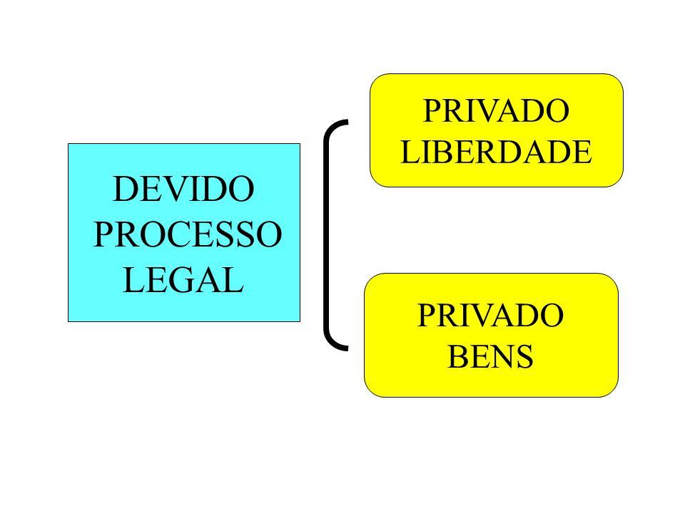 DEVIDO PROCESSO LEGAL PRIVADO LIBERDADE PRIVADO BENS