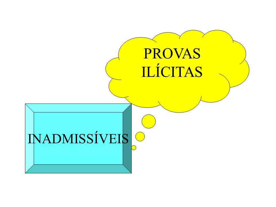 INADMISSÍVEIS PROVAS ILÍCITAS