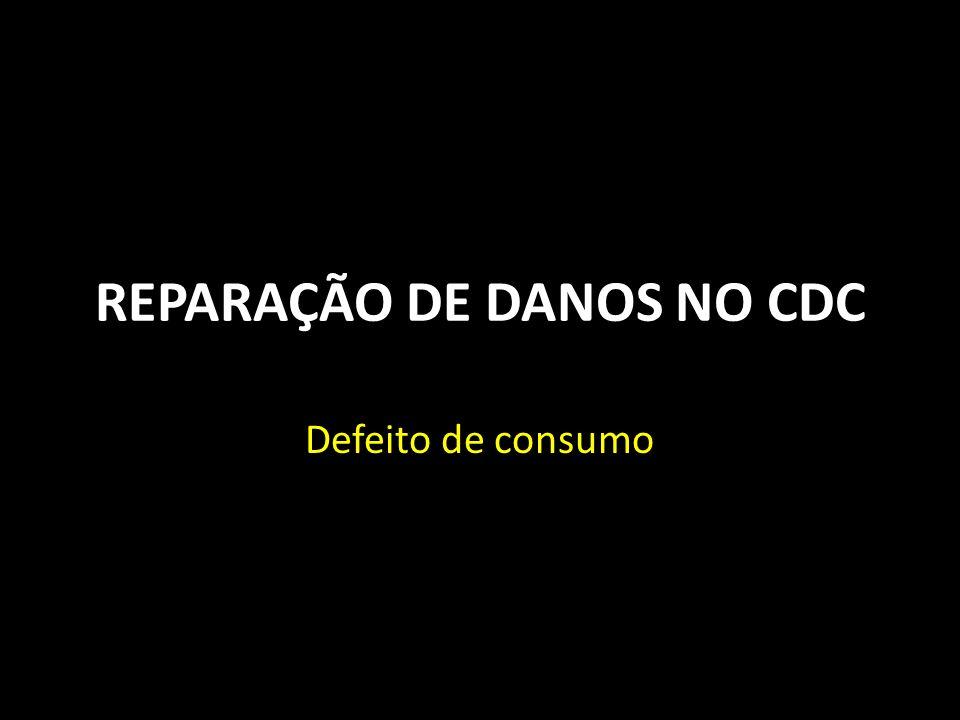 REPARAÇÃO DE DANOS NO CDC Defeito de consumo