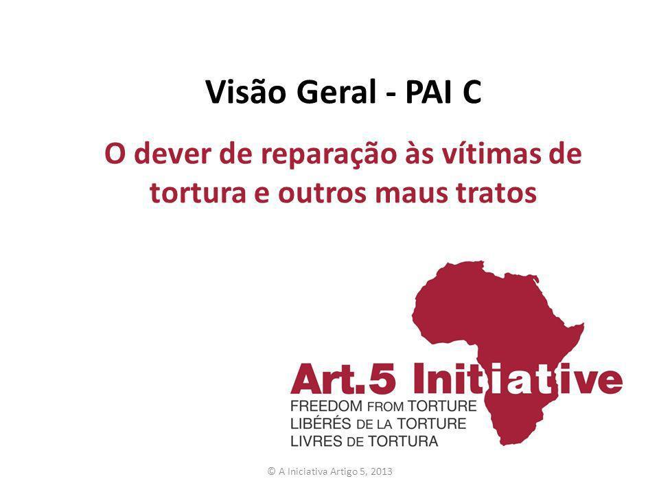 Visão Geral - PAI C O dever de reparação às vítimas de tortura e outros maus tratos © A Iniciativa Artigo 5, 2013