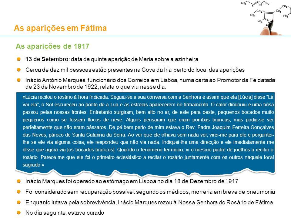 As aparições em Fátima 13 de Setembro: data da quinta aparição de Maria sobre a azinheira Cerca de dez mil pessoas estão presentes na Cova da Iria per