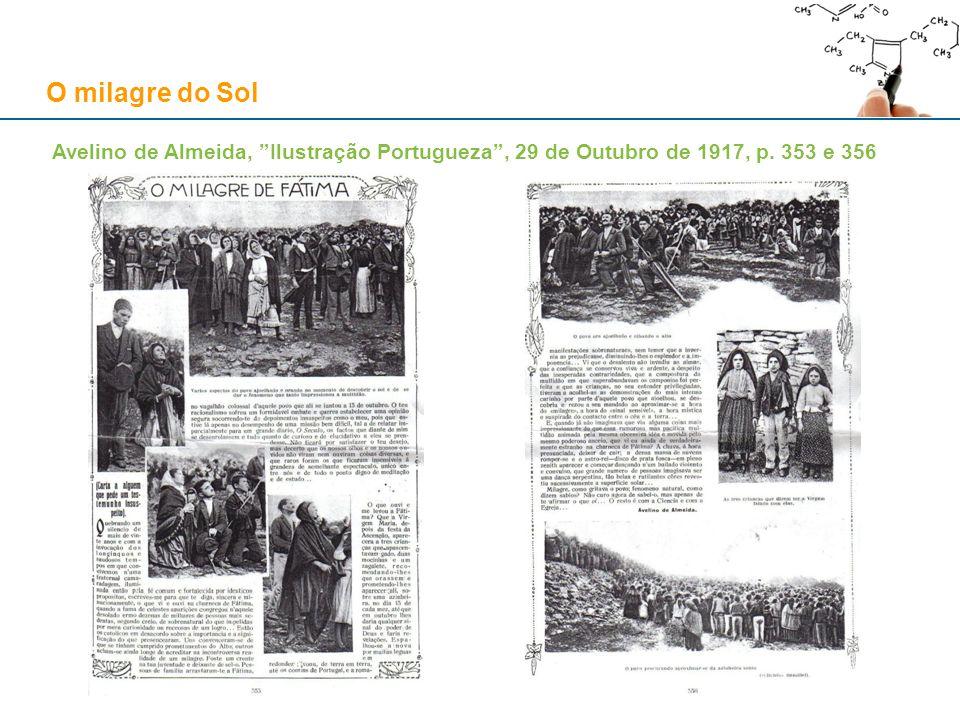 O milagre do Sol Avelino de Almeida, Ilustração Portugueza, 29 de Outubro de 1917, p. 353 e 356