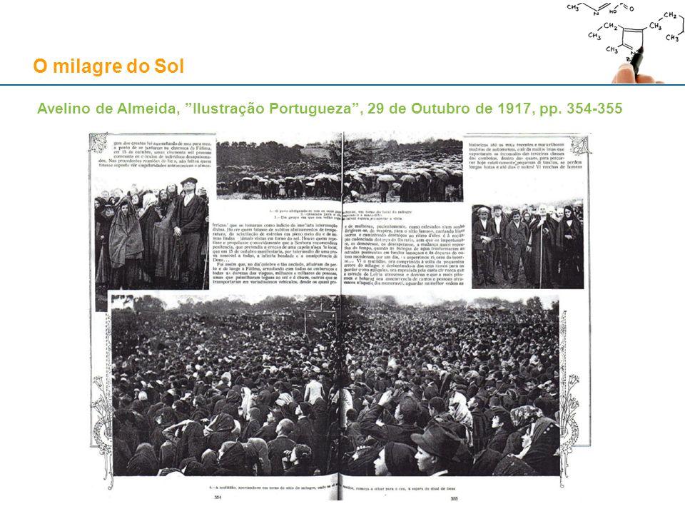 O milagre do Sol Avelino de Almeida, Ilustração Portugueza, 29 de Outubro de 1917, pp. 354-355
