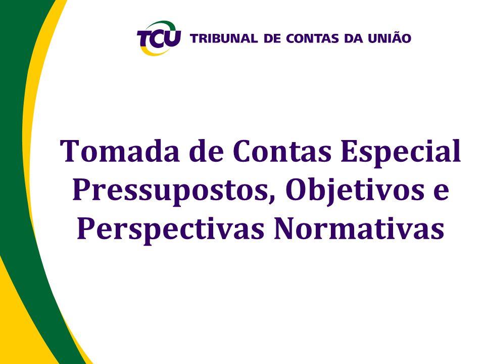 Tomada de Contas Especial Pressupostos, Objetivos e Perspectivas Normativas
