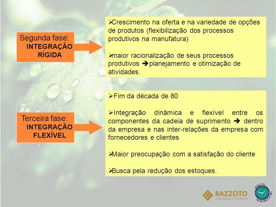 Segunda fase: INTEGRAÇÃO RÍGIDA Crescimento na oferta e na variedade de opções de produtos (flexibilização dos processos produtivos na manufatura) mai