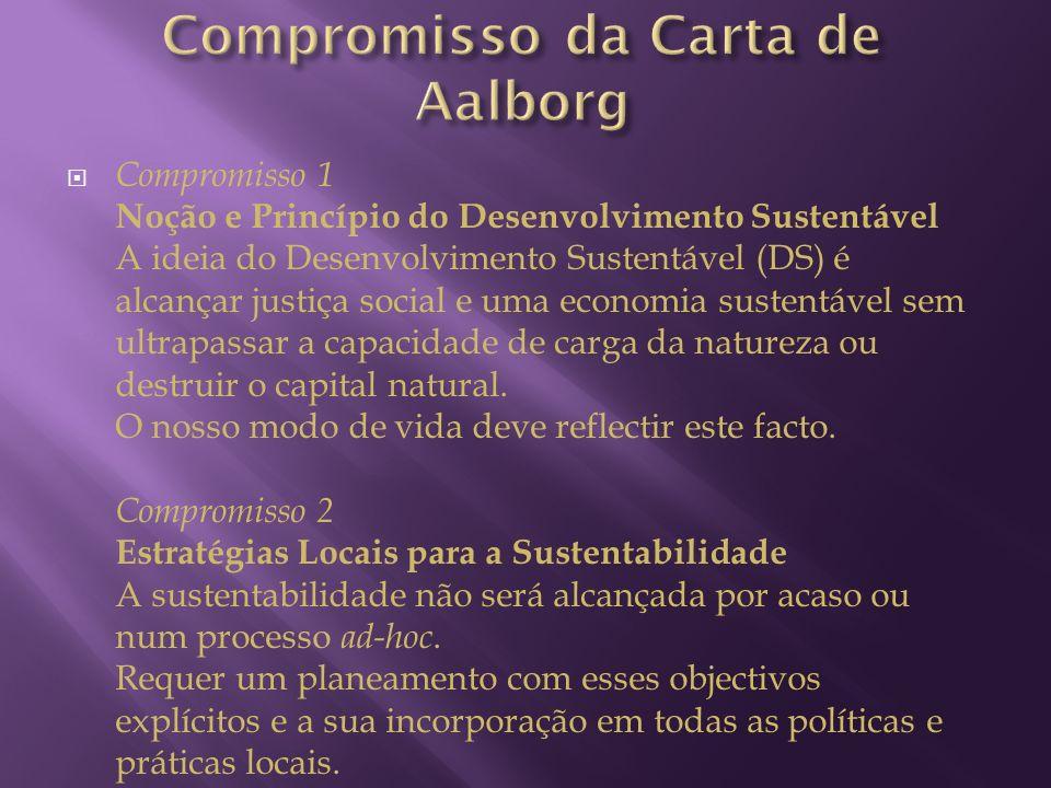 Compromisso 1 Noção e Princípio do Desenvolvimento Sustentável A ideia do Desenvolvimento Sustentável (DS) é alcançar justiça social e uma economia su