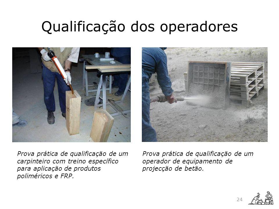 Prova prática de qualificação de um carpinteiro com treino específico para aplicação de produtos poliméricos e FRP. Prova prática de qualificação de u