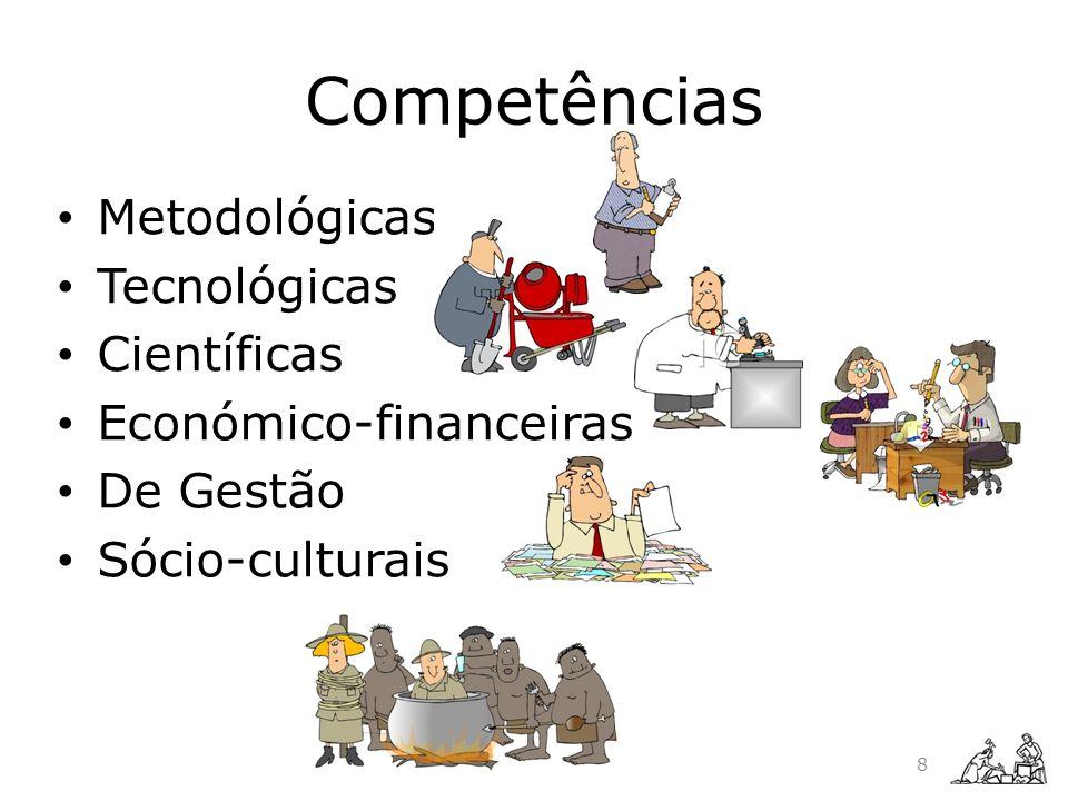 Competências Metodológicas Tecnológicas Científicas Económico-financeiras De Gestão Sócio-culturais 8