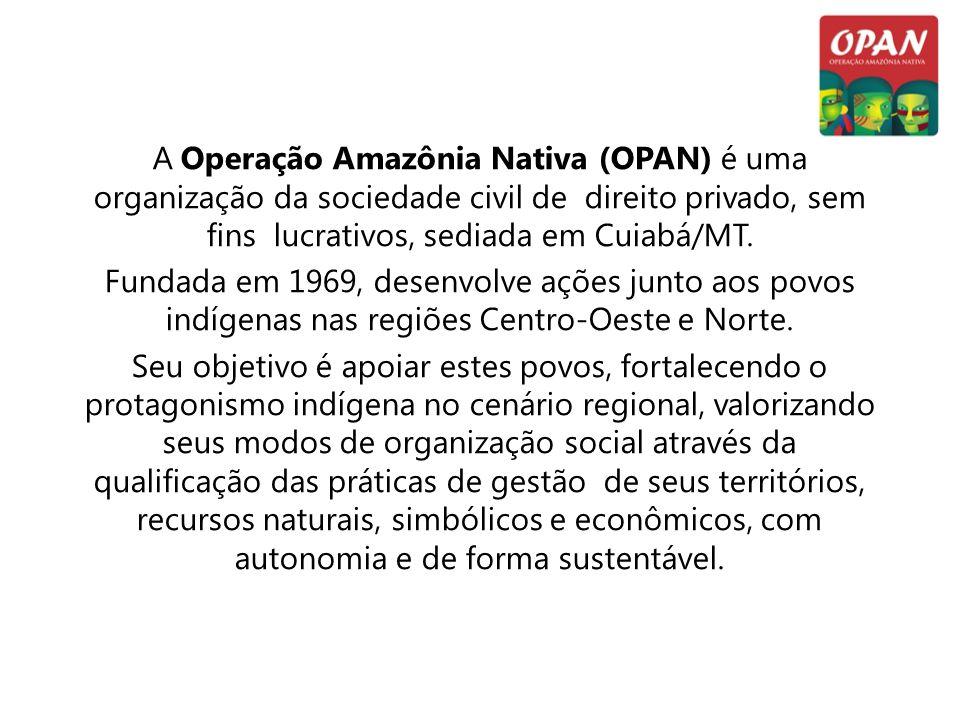 A Operação Amazônia Nativa (OPAN) é uma organização da sociedade civil de direito privado, sem fins lucrativos, sediada em Cuiabá/MT. Fundada em 1969,
