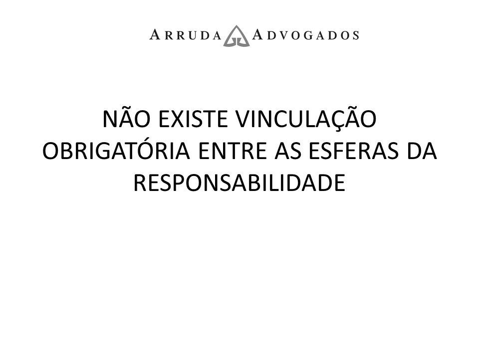 NÃO EXISTE VINCULAÇÃO OBRIGATÓRIA ENTRE AS ESFERAS DA RESPONSABILIDADE
