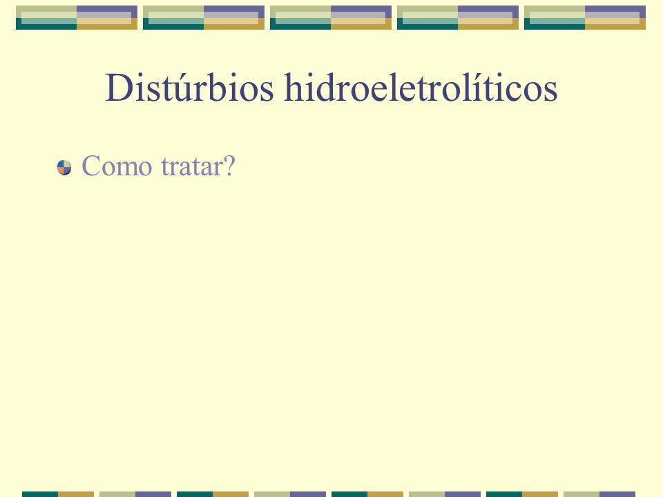 Distúrbios hidroeletrolíticos Como tratar?