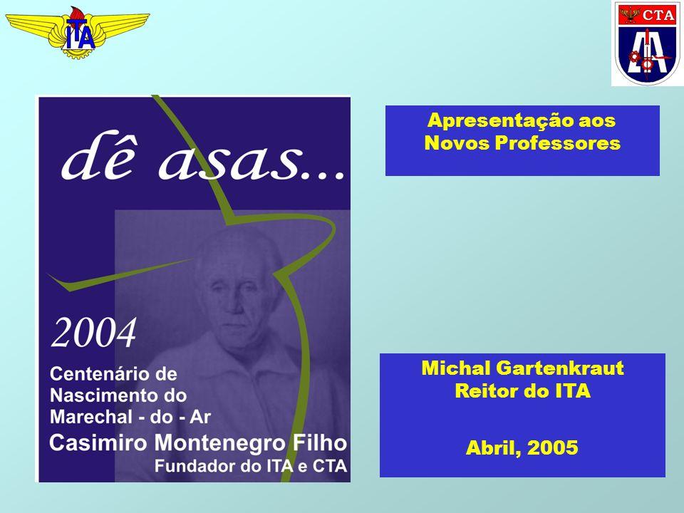 Apresentação aos Novos Professores Michal Gartenkraut Reitor do ITA Abril, 2005