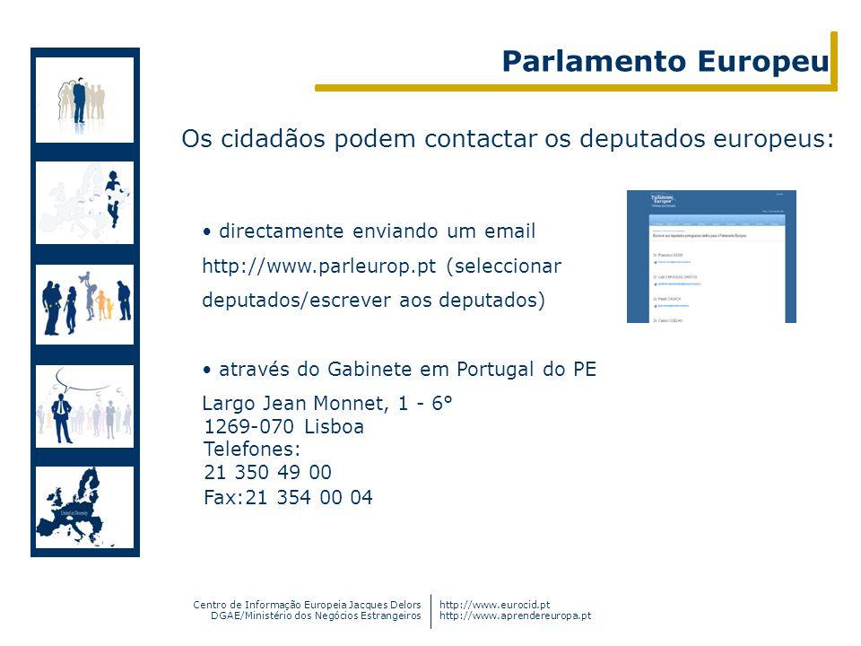 Centro de Informação Europeia Jacques Delors DGAE/Ministério dos Negócios Estrangeiros http://www.eurocid.pt http://www.aprendereuropa.pt Os cidadãos