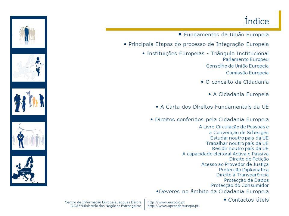 Centro de Informação Europeia Jacques Delors DGAE/Ministério dos Negócios Estrangeiros http://www.eurocid.pt http://www.aprendereuropa.pt Índice Funda