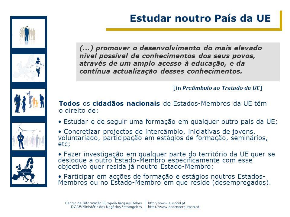 Centro de Informação Europeia Jacques Delors DGAE/Ministério dos Negócios Estrangeiros http://www.eurocid.pt http://www.aprendereuropa.pt Dimensão Par