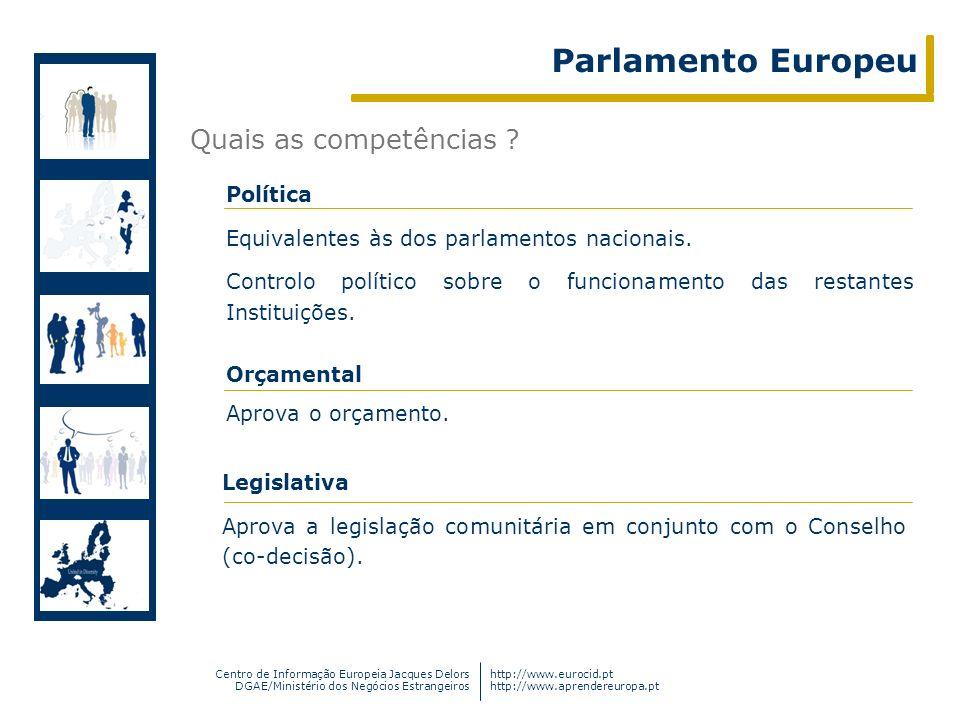 Centro de Informação Europeia Jacques Delors DGAE/Ministério dos Negócios Estrangeiros http://www.eurocid.pt http://www.aprendereuropa.pt Quais as com
