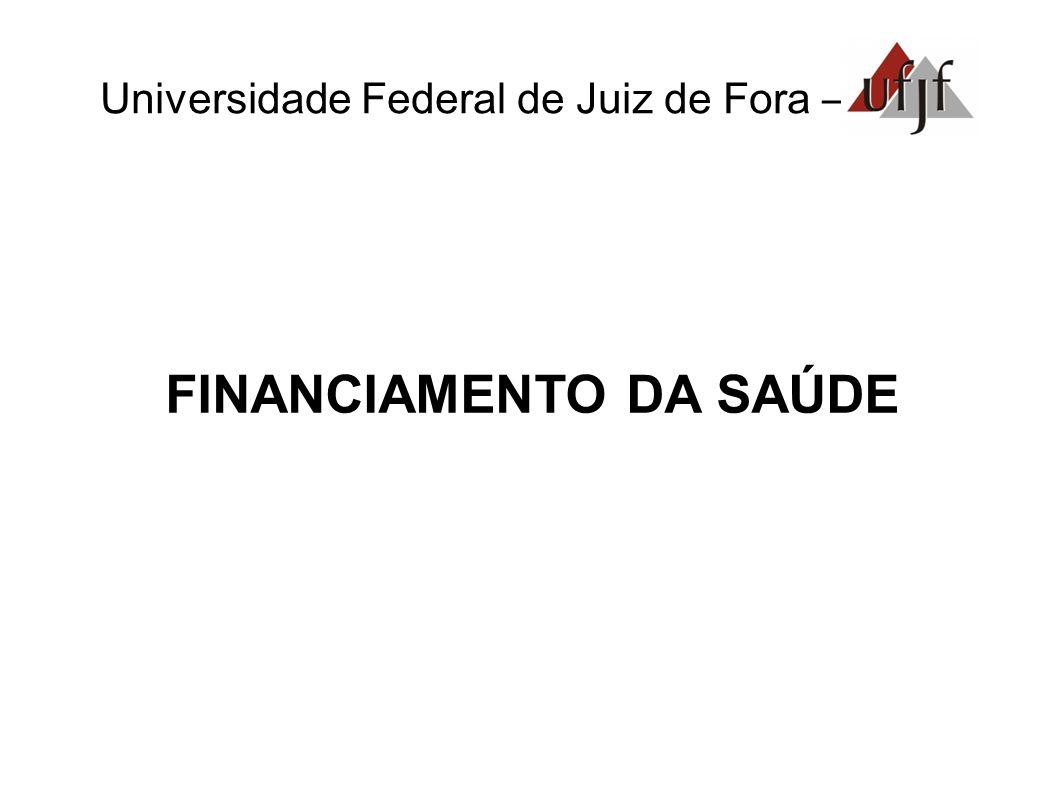 Universidade Federal de Juiz de Fora – FINANCIAMENTO DA SAÚDE