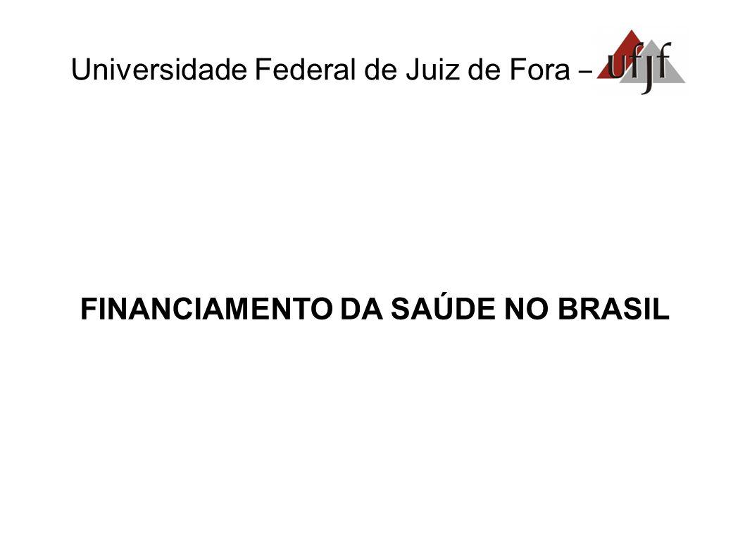 Universidade Federal de Juiz de Fora – FINANCIAMENTO DA SAÚDE NO BRASIL
