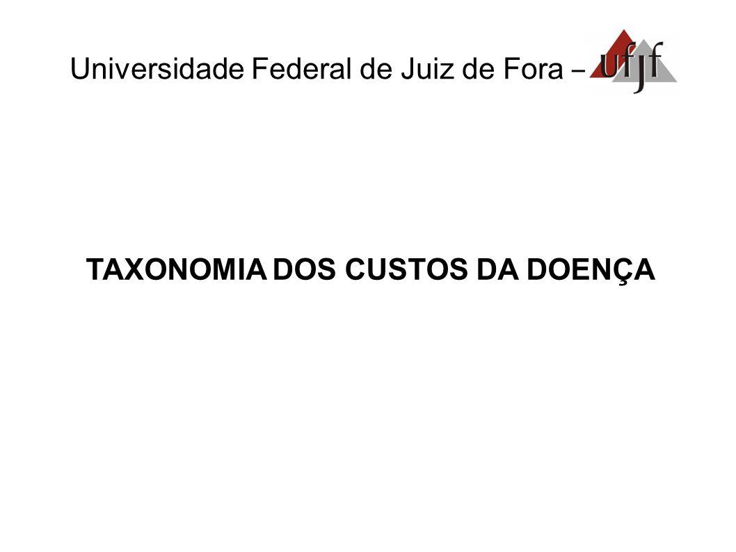 Universidade Federal de Juiz de Fora – TAXONOMIA DOS CUSTOS DA DOENÇA