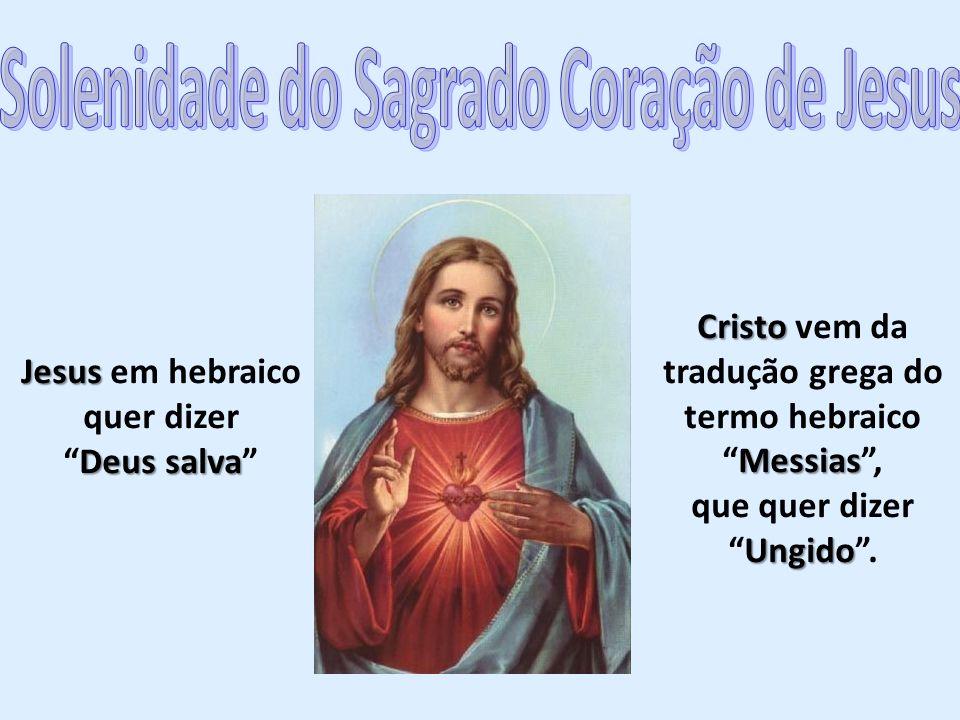 Jesus Jesus em hebraico quer dizer Deus salvaDeus salva Cristo Messias Cristo vem da tradução grega do termo hebraicoMessias, Ungido que quer dizerUngido.