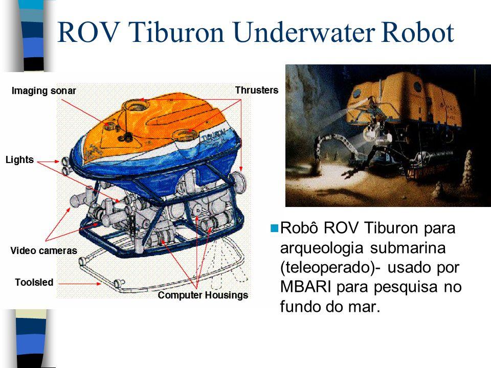 ROV Tiburon Underwater Robot Robô ROV Tiburon para arqueologia submarina (teleoperado)- usado por MBARI para pesquisa no fundo do mar.