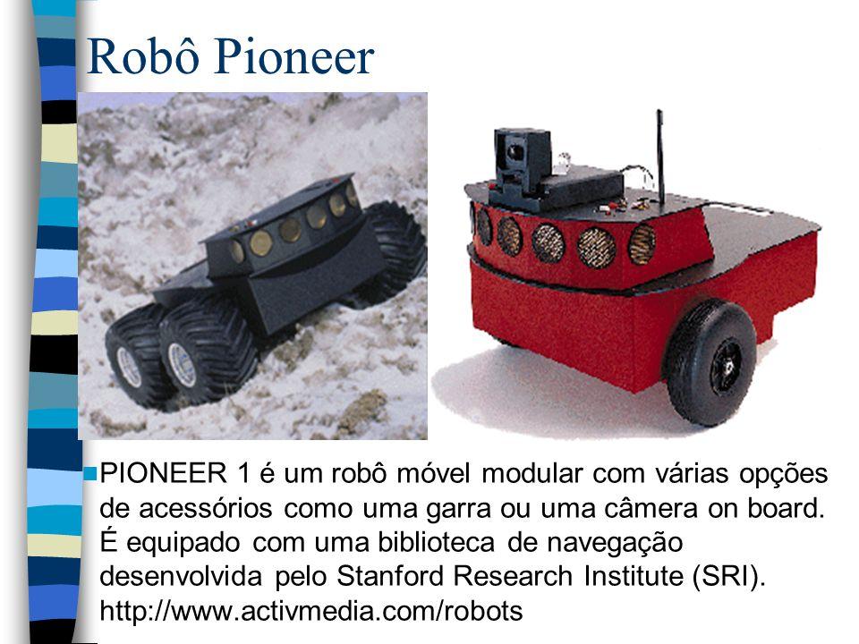 Robô Pioneer PIONEER 1 é um robô móvel modular com várias opções de acessórios como uma garra ou uma câmera on board. É equipado com uma biblioteca de