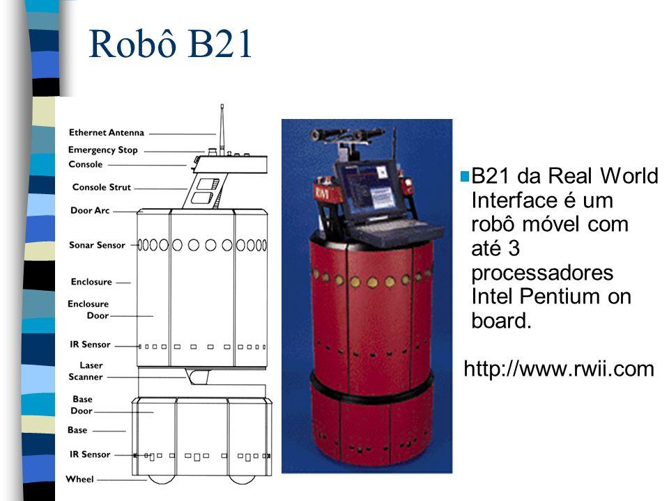 Robô B21 B21 da Real World Interface é um robô móvel com até 3 processadores Intel Pentium on board. http://www.rwii.com