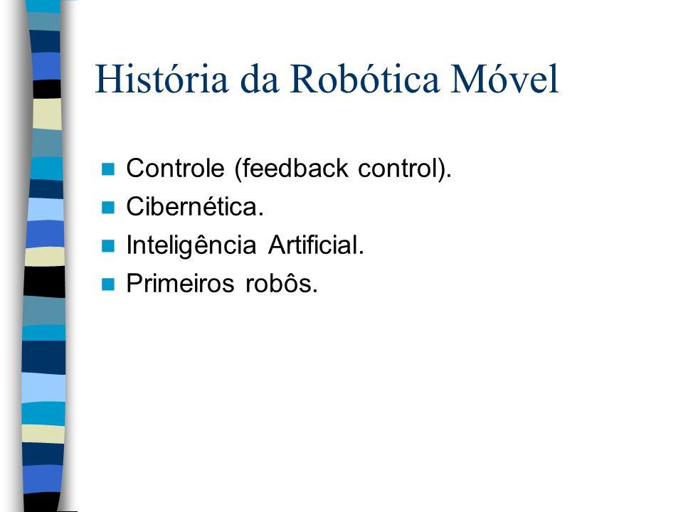 Controle (feedback control). Cibernética. Inteligência Artificial. Primeiros robôs. História da Robótica Móvel